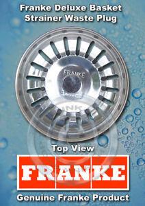 Franke Plug : Franke Kitchen Basket Strainer Waste Plug Stainless eBay