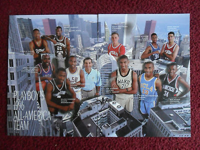 1996 Magazine Photo Page Tim Duncan Wake Forest Allen Iverson All American Tean