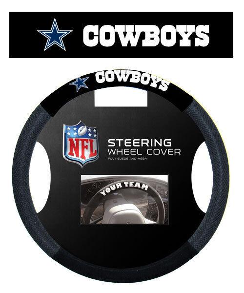 Dallas Cowboys NFL Suede Mesh Car Steering Wheel Cover