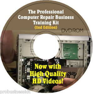 Complete Home COMPUTER REPAIR BUSINESS Training Kit - Video Course + Tools on CD