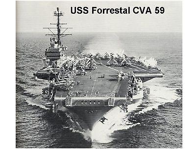 Uss Forrestal Cva 59 Navy Ship Refrigerator / Tool Box Magnet