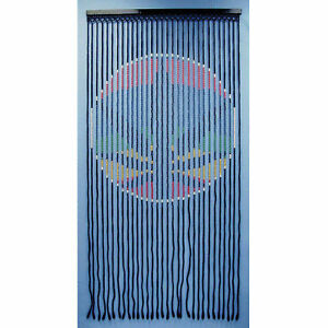 6428 rasta colored marijuana leaf wood bead door curtain nib