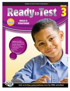 Ready to test 256p 3rd grade math language workbook third learning
