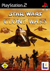 PS2 - Star Wars: Episode II - The Clone Wars (Sony PlayStation 2, 2003, DVD-Box)