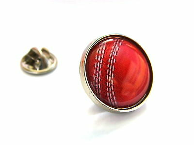 CRICKET BALL LAPEL PIN BADGE GIFT