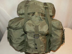 MEDIUM-OD-Green-ALICE-COMBAT-Field-Pack-BACKPACK-GENUINE-US-Military-Issue-VG