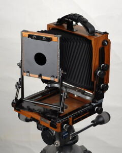 Shen hao 4x5 hzx45 iia wood folding field camera for Chambre 4x5 folding