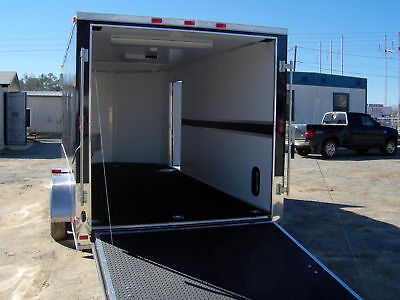 16 Enclosed Motorcycle Cargo Trailer Ac Unit E Track Finished Led Tail Lights