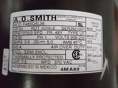 Ao Smith 5-5/8 Diameter Double Shaft Fan/blower Motor E-2