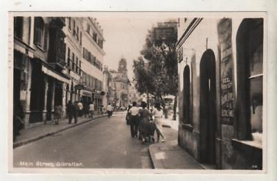 GIBRALTAR - MAIN STREET R.P. Rex Postcard *