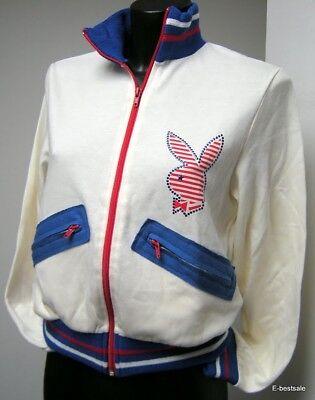 Playboy Sweatshirt Sweater Jersey Full Zip 100% Originale Us