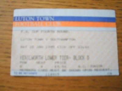 28/01/1995 Ticket: Luton Town v Southampton [FA Cup] (S