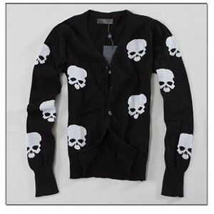 NWT-ALEXANDER-MCQUEEN-McQ-Cardigan-Sweater-Black-Medium