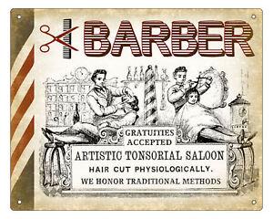 BARBER-SHOP-hair-salon-VINTAGE-SIGN-RETRO-PLAQUE-art-1