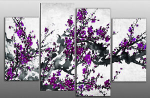LARGE-CHINESE-PLUM-PURPLE-BLOSSOM-FLORAL-CANVAS-ART