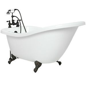 american bath factory 59 olivia clawfoot tub in old world bronze bathtub ebay. Black Bedroom Furniture Sets. Home Design Ideas