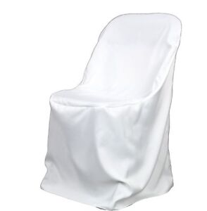 50-White-Poly-Folding-Chair-Covers-NEW-Wedding