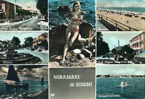 034-MIRAMARE-di-RIMINI-con-SETTE-VEDUTE-034-Viaggiata-Anno-1957
