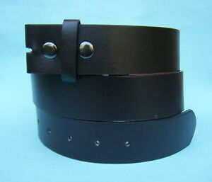 Snap on Leather look Belt in Black Brown White