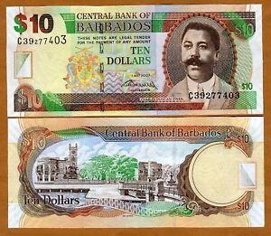Barbados-10-2007-P-68-New-UNC-new-2009-signature