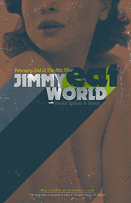 Jimmy Eat World * ORIGINAL CONCERT POSTER * David Bazan