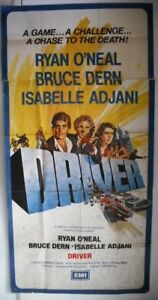 2sht-Driver-UK-British-Ryan-ONeal-Movie-Poster-70s