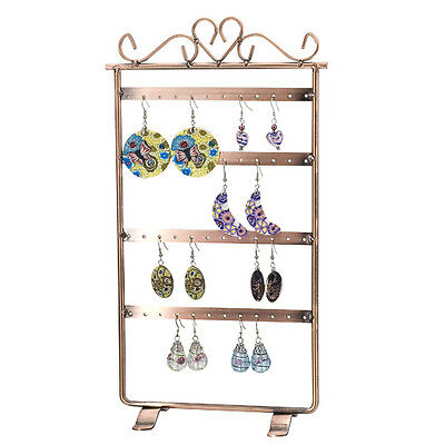 Earrings 48 Hole Display Stand Holder Bronze
