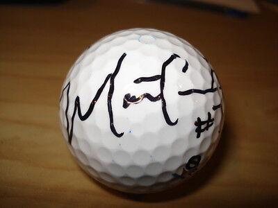 Celebrity Golf Ball Auto NFL MATT CASSEL chiefs QB Rare