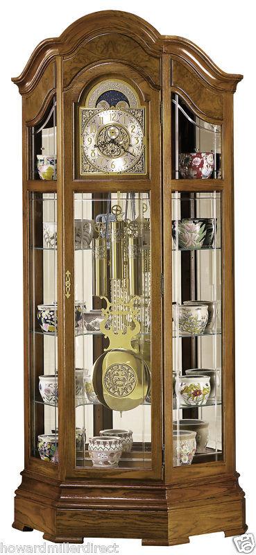 Howard Miller 610 940 Majestic Curio Grandfather Clock Ebay
