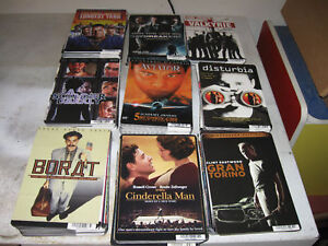 MINI MOVIE POSTERS DVD BACKER CARDS HUGE LOT (400)