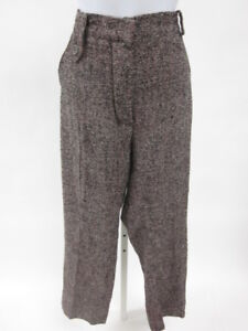 SONIA-RYKIEL-Black-Tweed-Wool-Trousers-Pants-Sz-42