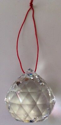 FENG SHUI 80mm CLEAR CRYSTAL BALL PRISMS PENDANTS LUCK