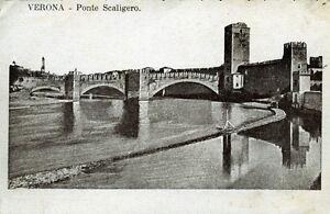 034-VERONA-PONTE-SCALIGERO-034-Viaggiata-Anno-1918
