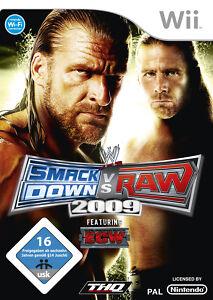 Wii Spiel WWE SmackDown vs Raw 2009 mit Anleitung guter Zustand + OVP