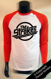 The Strokes baseball T shirt long sleeved - retro music indie rock baseball top