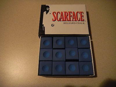 Scarface Pool Cue Chalk-blue