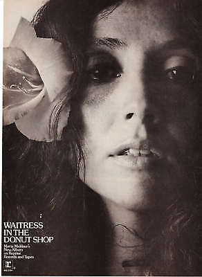 "1974 Maria Muldaur pic ""Waitress in the Donut Shop"" Ad"