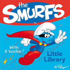 Smurfs-Little-Library-5-Books-Collection-Pack-Set-Board-Books-New-9780857073358