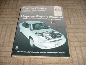 1992 1996 Haynes Repair Manual Toyota Camry Avalon Ebay border=