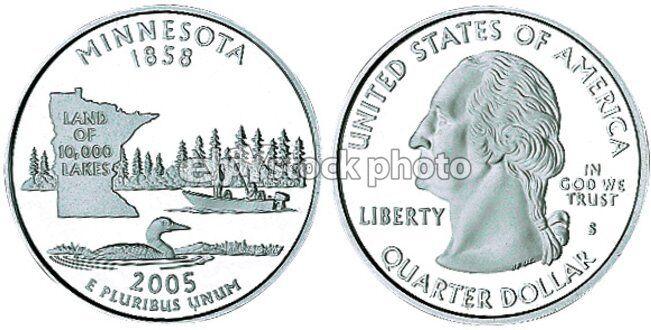 Quarter, 2005, Minnesota, 50 State Quart...