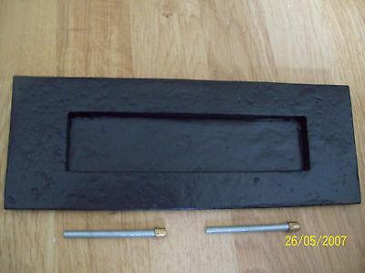 NERA ANTICA IN GHISA TUDOR Cassetta delle lettere piatto 27.9cmx10.2cm
