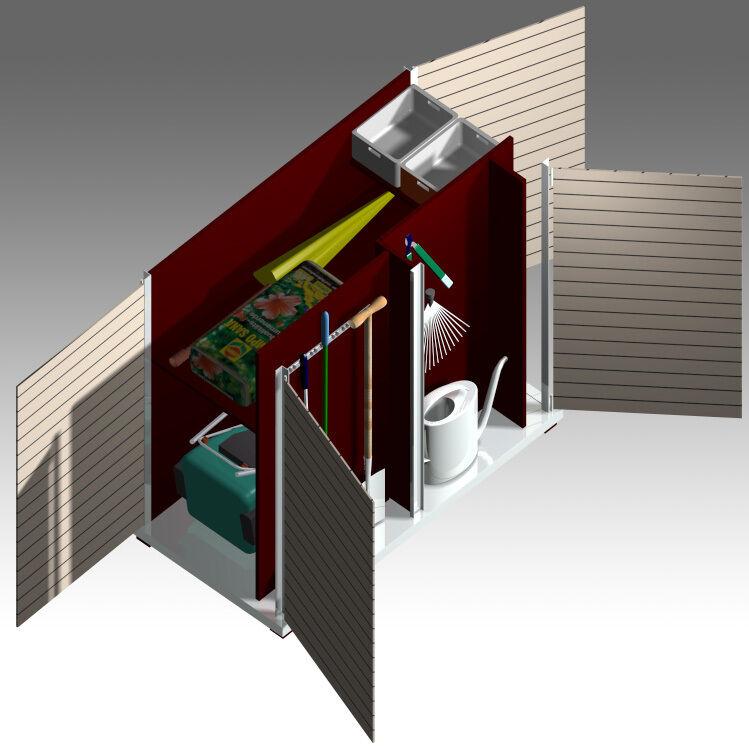 gartenschrank garten q ger teschrank design modern metall. Black Bedroom Furniture Sets. Home Design Ideas
