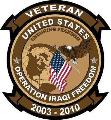 "Operation Iraqi Freedom Veteran 5.5"" Car Window Sticker Decal"