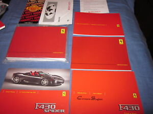 2005-FERRARI-F430-SPIDER-OWNERS-MANUAL-SET