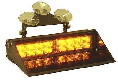 Dash Mount Amber Yellow 16 Led Light Kit 15 Flash Modes Super Bright