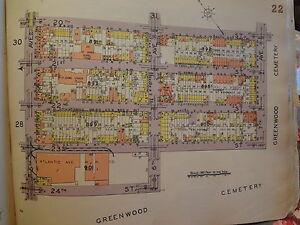 ORIG 1929 Brooklyn Sunset Park Map New York City NYC 11