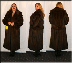 New Sable Dyed Fitch Fur Coat - Size Large 10 12 L Efurs4less