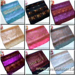 NEW-LONG-GOLDEN-THREAD-100-SILK-SCARF-BELT-18-5-x62
