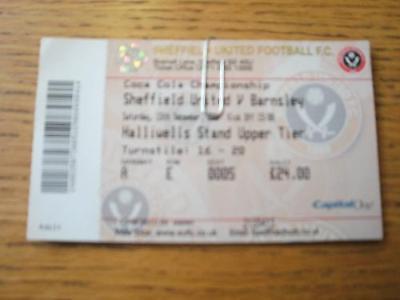 15/12/2007 Ticket: Sheffield United v Barnsley  (Slight