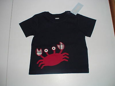 Gymboree Crab Shack Plaid Navy Top 12-18 18-24 Mos